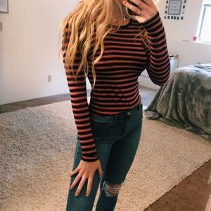 3 FOR 20🌟 forever 21 striped long sleeve rustic